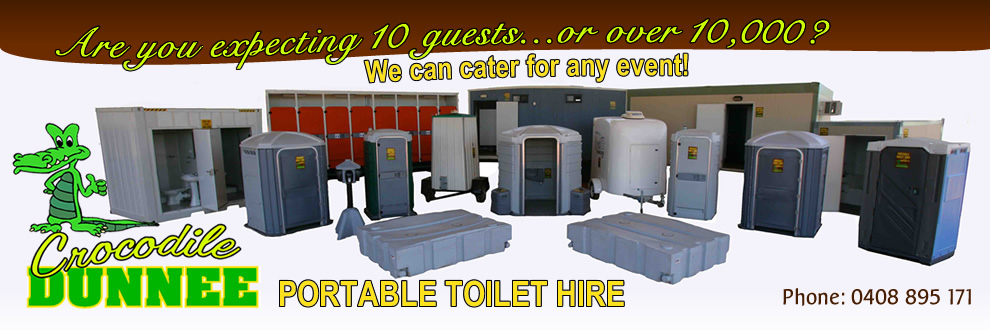 Crocodile Dunnee - Portable Toilet Hire, link to home page